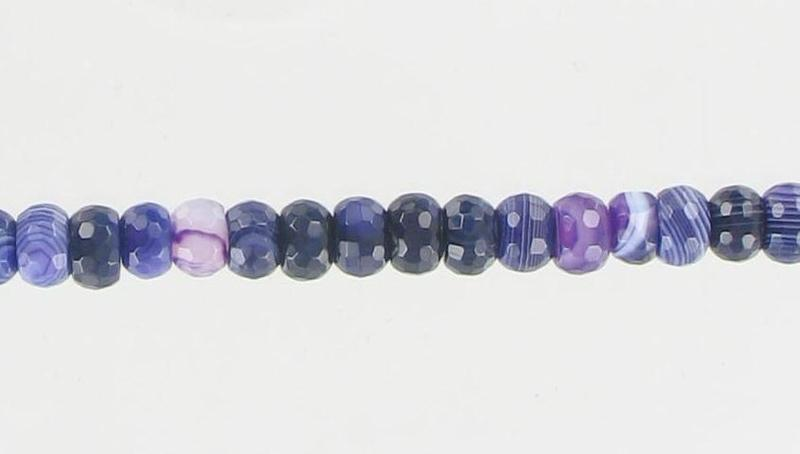 1000286 Purple Agate 8mm Faceted Rondel