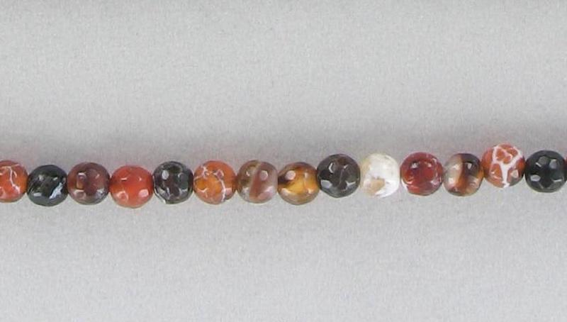 1007072 Fire Agate 6mm Faceted