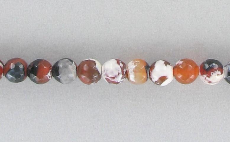 10090743 Dream Fire Agate 8mm Faceted