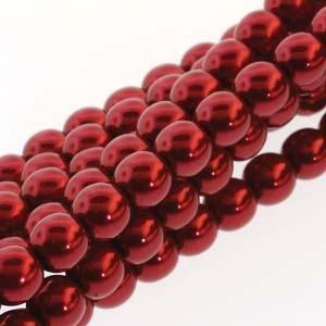 2030425 Glass Pearl 6mm Xmas Red