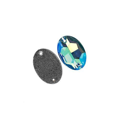 2320130 S/O 17x24mm Oval Resin Turquoise Ab