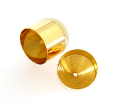 3085712 Gold Plate 12mm End Cap Lf/Nf