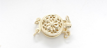 34023102 14Kt Clasp 10mm Filigree 2 Str