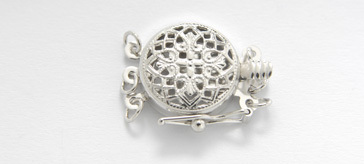 3502313 14Kt Wg  Clasp 12mm  Filigree 3 Str