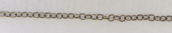 500503 Brass 4mm Oval Cable Chain