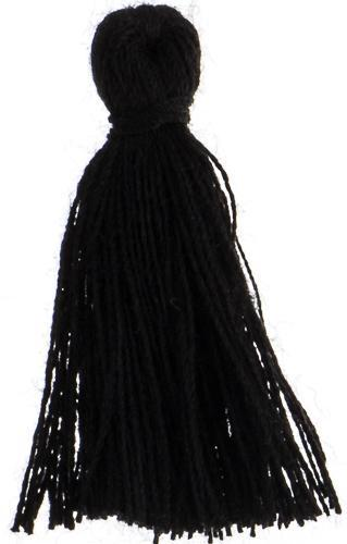"500711 1"" Cotton Tassel Black"