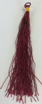 500723 Tassel With Loop - Burgundy