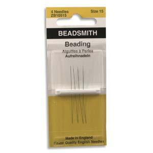 510105 #15 English Beading Needles 4/Pkg