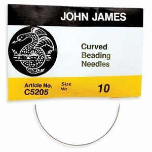 5101201 #10 English Beading Needles 25/Pkg, Curved