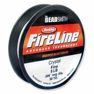 520085 Fireline 8lb, 50 Yards, Crystal