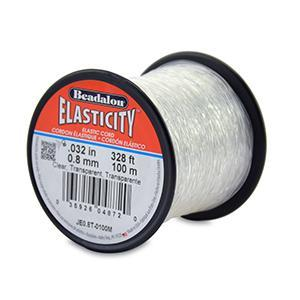 520422 Elasticity 0.8mm Clear 100mtr