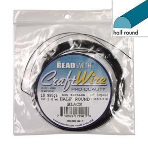 520530 Craft Wire 1/2Rd Blk 18g