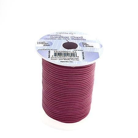 530234 Indian Leather 1.5mm Metallic Pink