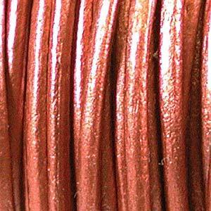 530406 Indian Leather 1.5mm Metallic Copper/Yd