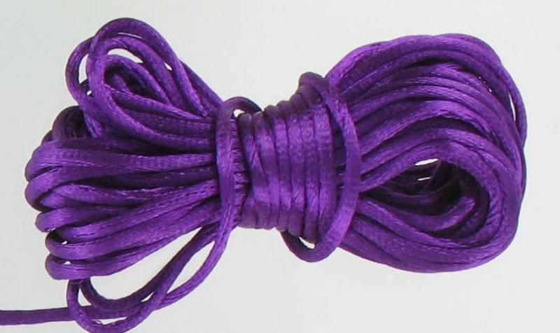 540025 Rattail 1.5mm Card. Purple/Yd
