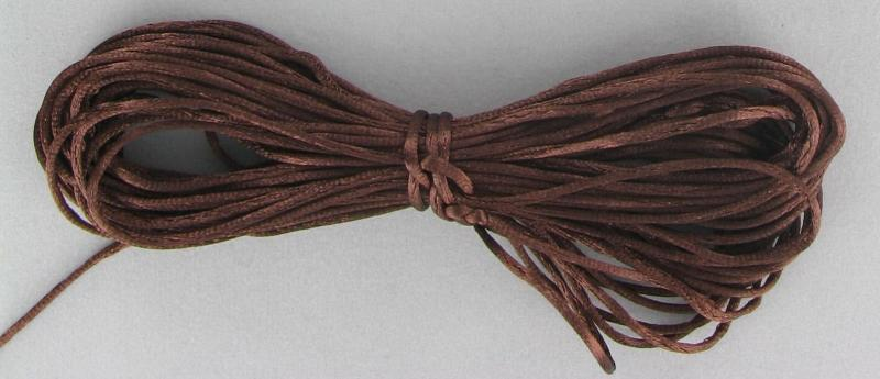 540080 Rattail 1mm Chocolate Brown 10yds