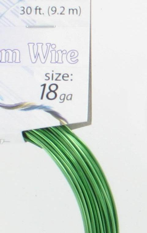570009 Aluminum Wire 18g Green