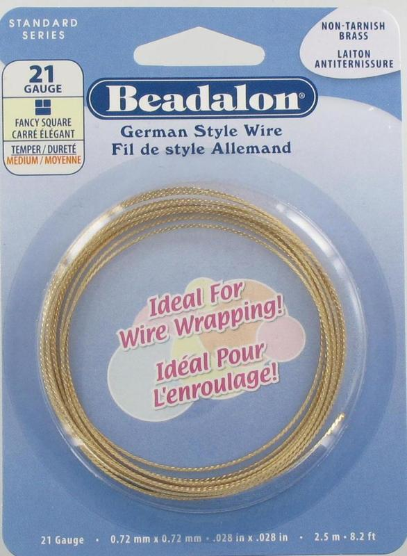5891076 Brass Square Wire 21g Fancy