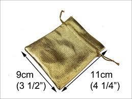 "900033 Drawstring Pouch 3""X4"" Gold"