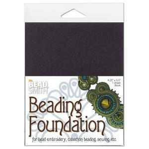 "910032 Beading Foundation 4.25X5.5"" Black"