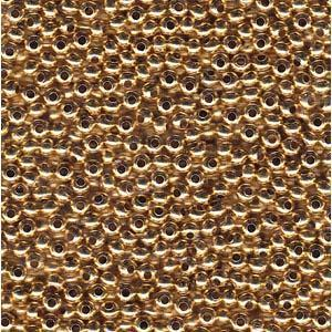 MT11000 11/0 Metal Seed Bead Gold Plate